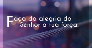 Faça da alegria do Senhor a tua f - Fernandinho