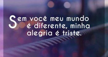 Sem você meu mundo é diferente