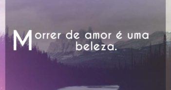 Morrer de amor é uma beleza. - Nando Reis