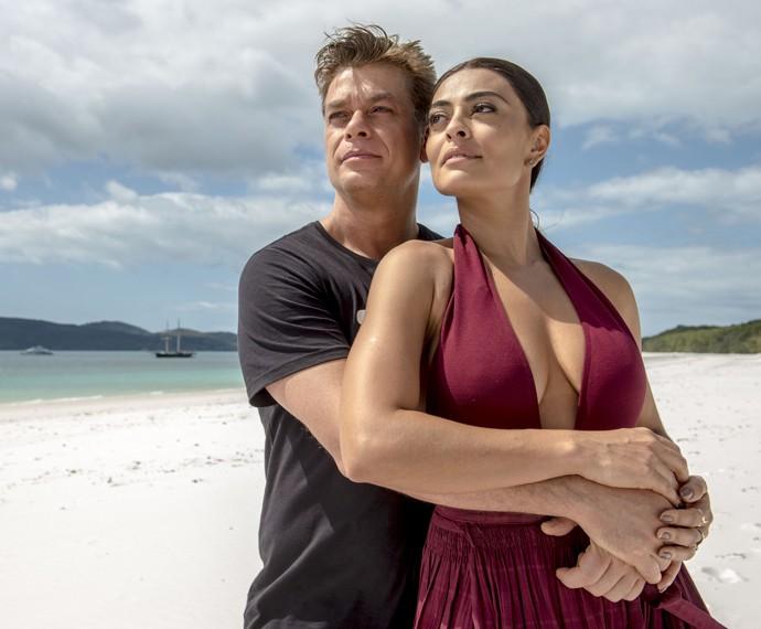 Carolina (Juliana Paes) e Arthur (Fábio Assunção) Novela Totalmente Demais