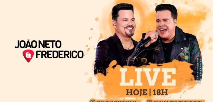 Live Youtube ao Vivo-João Neto e Frederico-domingo 5-04-20