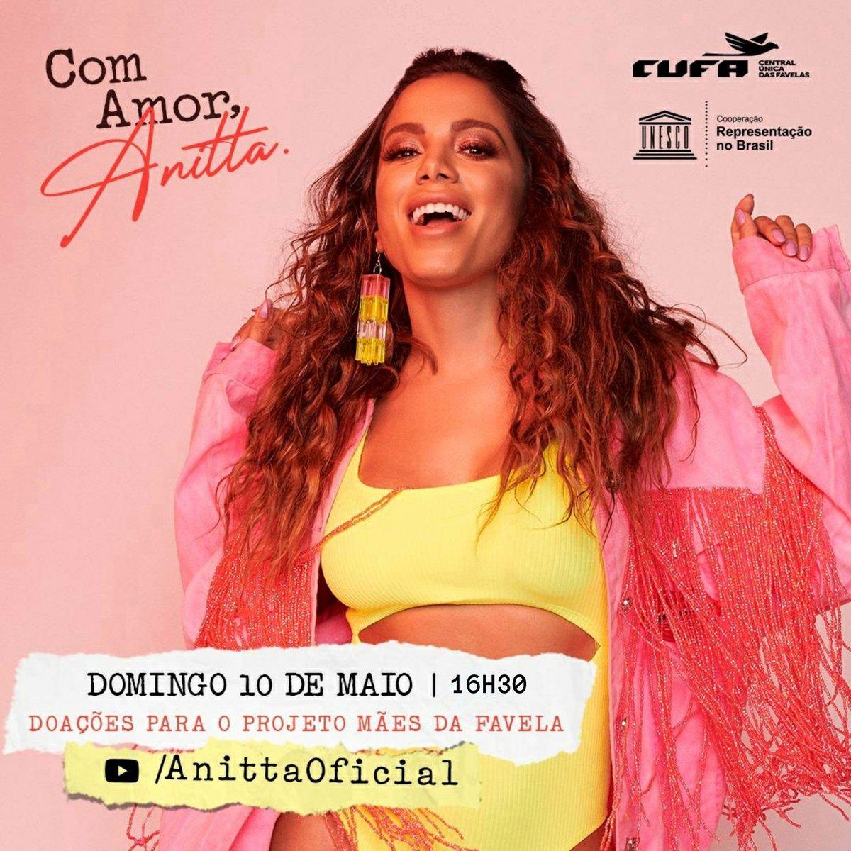 live Anitta dia das Maes Domingo dia 10-05-2020 as 16h30