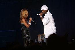 50 Cent com Olivia em 2009.