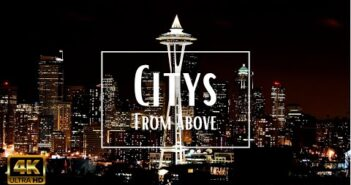 (4K) Cities From Above - Uplifting Hip Hop Music for Relaxation